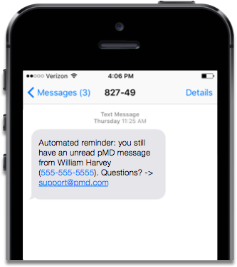 Pmd pmd hipaa compliant text messaging iphone automated sms test reminder stopboris Choice Image